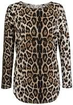 *Quiz Leopard Print Long Sleeve Top