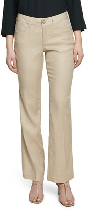 Curves 360 by NYDJ Wide Leg Linen Blend Pants
