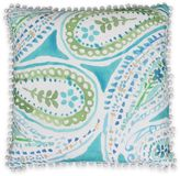 Thro Katerina Pom Pom Paisley Square Throw Pillow