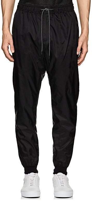 Marcelo Burlon County of Milan MEN'S WING GRAPHIC TECH-TAFFETA TRACK PANTS