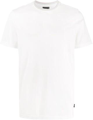 Paul Smith stripe collar T-shirt
