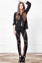 David Lerner New Tribal Leggings in Black/Coffee