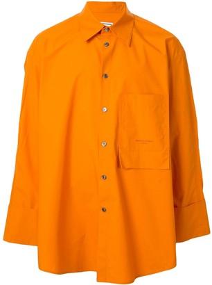 Wooyoungmi Patch-Pocket Oversized Shirt