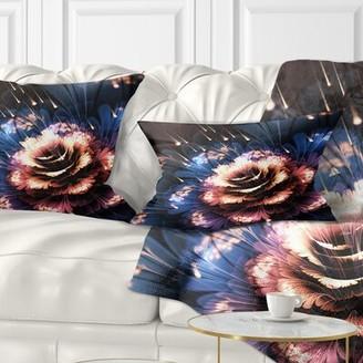 East Urban Home Floral Fractal Flower Lumbar Pillow