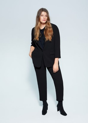 MANGO Relaxed fit suit blazer
