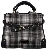 Christian Lacroix Leather-Trimmed Tweed Satchel