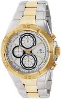 Titan Men's 9308BM01 Contemporary - Chronograph - Dial Metal Strap Watch