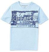 Buffalo David Bitton Big Boys 8-20 V-Neck Graphic Tee