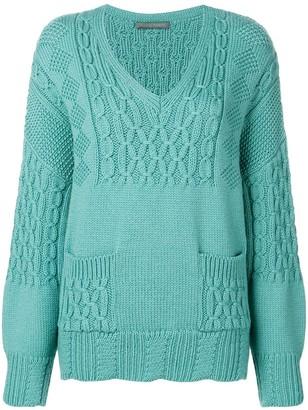 Alberta Ferretti chunky knit jumper