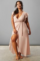 Forever 21 FOREVER 21+ Plus Size Surplice Maxi Dress
