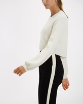 Jaeger Cropped Curved Hem Sweater