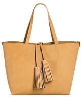 Women's Faux Leather Tote with Crossbody Bag Handbag - Merona