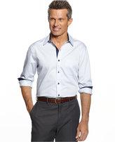 Tasso Elba Long Sleeve Stripe Shirt, Only at Macy's
