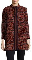M Missoni Knit Tweed Coat