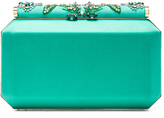 Oscar de la Renta Embroidered Satin Saya Clutch