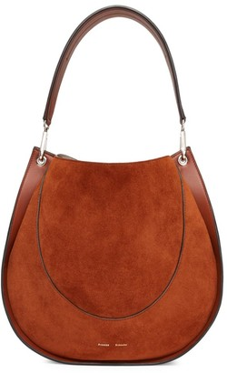 Proenza Schouler Large Leather & Suede Hobo Bag