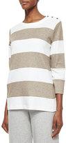 Joan Vass Striped Pullover Top