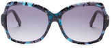 Swarovski Women's Fantine Crystal Accented Oversized Sunglasses