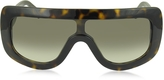 Celine ADELE CL 41377/S 086EM Havana Acetate Mask Women's Sunglasses