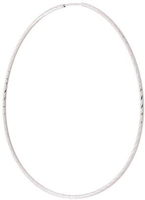 Maria Black 14kt white gold Liv 65mm hoop earring