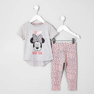River Island Mini girls pink Minnie Mouse pyjamas