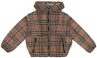 BURBERRY KIDS Vintage Check technical jacket