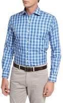 Peter Millar Jewel Plaid Shirt, Blue Diamond