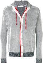 Pierre Balmain striped hooded jacket - men - Cotton - 50