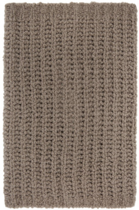 Rick Owens Grey Knit Tube Fisherman Scarf