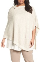 Eileen Fisher Plus Size Women's Organic Linen & Cotton Poncho