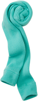 Hanna Andersson Green Glass Signature Rib Knit Ankle Tights
