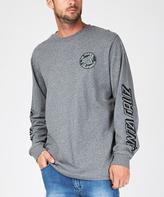 Santa Cruz Cali Dot Long Sleeve T-shirt Grey Heather