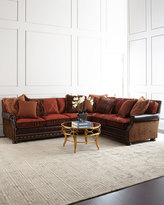 Massoud Sloan Left-Facing Leather Sectional