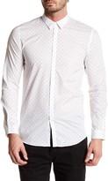 Junk De Luxe Long Sleeve Dot Print Shirt
