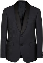 Pal Zileri Navy Wool Blend Tuxedo Jacket