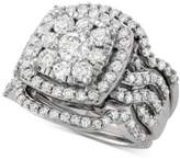 Macy's Diamond 3-Pc. Cluster Bridal Set (2-1/2 ct. t.w.) in 14k White Gold