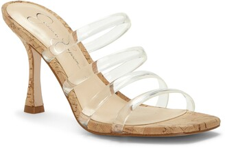Jessica Simpson Oniela Clear Strap Slide Sandal