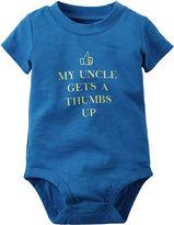 Carter's Short-Sleeve Uncle Slogan Bodysuit - Baby Boys newborn-24