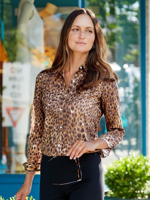 J.Mclaughlin Lois Shirt in Safari