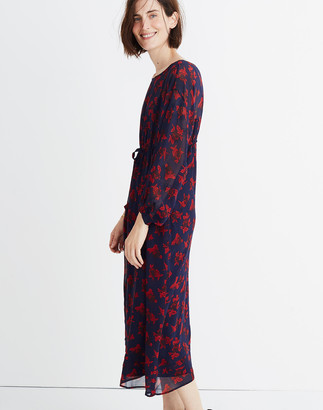 Madewell x No.6 Silk Magical Dress in Vintage Rose