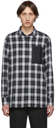 Neil Barrett Black and White Plaid Pocket Shirt