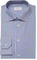 Eton Men's Check Print Contemporary Fit Dress Shirt