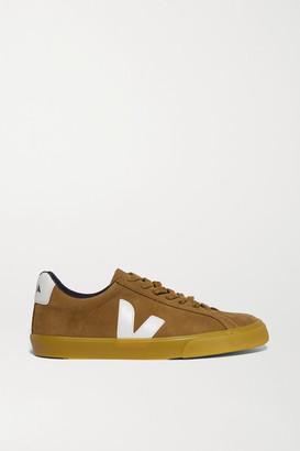Veja Net Sustain Esplar Leather-trimmed Suede Sneakers - Tan