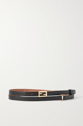 Fendi Leather Waist Belt - Black