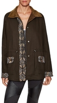 Haute Hippie Cotton Embellished Eagle Cargo Jacket
