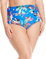 LaBlanca La Blanca Women's Plus Size Havana Tropics Ultra Hi-Rise Pant Bikini Bottom