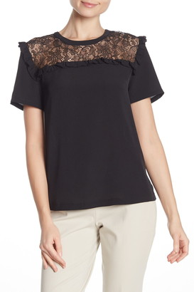French Connection Lace Yoke Blouse