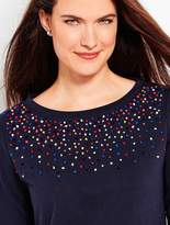 Talbots French Knot Confetti Pullover