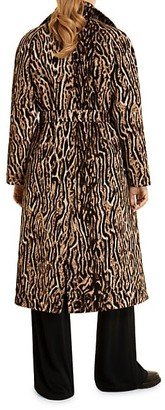 Marina Rinaldi, Plus Size Leopard Jacquard Trench Coat