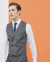 Checked Double-breasted Waistcoat